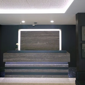 Stonini cabana 3d profile and concrete effects panels arcare aged care