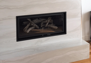 stonini delta creme brulee fireplace